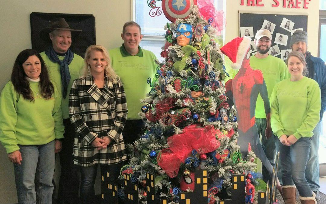 United Heritage Donates Christmas Tree to the Meridian Club!
